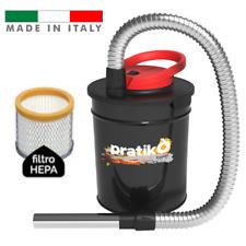 Bidone aspiracenere da 800W aspira cenere da 10 lt per stufe a pellet e camini