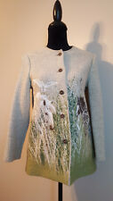 Geiger Womens Blazer Knitted Cardigan Wool Horses Design Size US 2, EU 34 $430