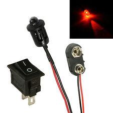Blinkend Rot Auto Dummy Falschgeld Alarm LED + PP3 Verbinder + Schalter Kit