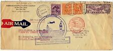 US UK GERMANY 1932 SHIP TO SHORE TO SOUTH HAMPTON THENCE BY AIR MAIL TO BERLIN