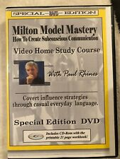 Milton Model Mastery Dvd & Cd Set with Paul Rhines