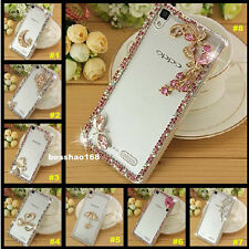 3D Bling Diamonds Crystal Ultra Thin Clear Soft Back TPU Gel Phone Case Cover 64