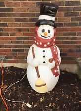 Vintage Lighted Empire Plastic Blow Mold 40 Frosty Snowman Blowmold