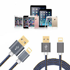 Lightning Denim Data Sync Charging Cable For Apple iPhone x 6 6S 5c 5s 7 Plus