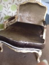 Gold & Champagne Sparkle Baroque Rococo Louis Cuddle Chair & Foot Stool.