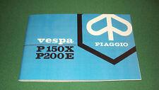 Uso e manutenzione Vespa p 150 x - p 200 e - p150x - p200e