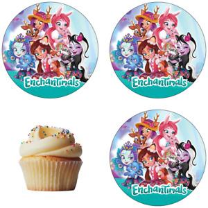 Enchantimals Eßbar Muffin Torten-Bild-Aufleger Party Deko Geburtstag Cupcake Neu