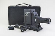 EXC++ MINIATURE SVE 35mm PROJECTOR MODEL DK w/CASE, SLIDE HOLDER, TESTED, GREAT!