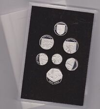 LARGE 2008 ROYAL SHIELD OF ARMS SILVER PROOF 7 COIN SET BOXED WITH CERTIFICATES