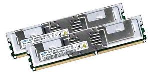 2x 2GB 4GB RAM Intel Server Board S5000VCL S5000PSL 667Mhz FB DIMM DDR2 Speicher