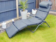 More details for garden sun lounger bed chair cushion recliner replacement furniture seat