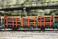 BULKSCENE 40mm MODEL TIMBER LOGS OO/HO GAUGE FOR WAGON LOADS - BULK QTY PACKS