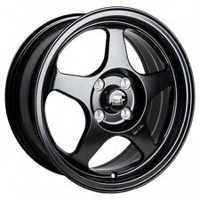 MST Wheels MT29 Rims 15x6.5 4x100 +35 Offset 73.1CB Matte Black Finish NEW