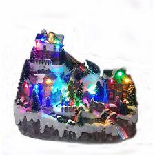 Light Up Ski Village Scene With Moving Gondolas Christmas Decoration