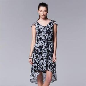 Women's Simply Vera Vera Wang Floral Chiffon High-Low Dress X-Large XL $68.00