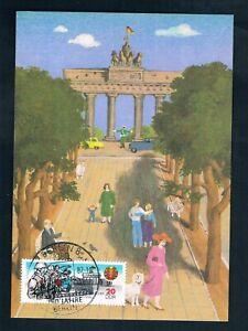 DDR Max.-karte Anlaßkarte privat Brandenburger Tor Berliner Mauer SST 750 Berlin