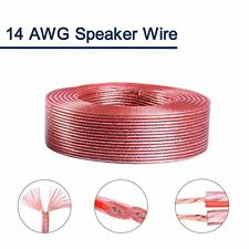 14 Gauge AWG Car Audio Speaker Wire,True Spec Stranded Wire Cable-50ft