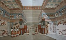 Reconstitution of an Assyrian temple  ...Antique Chromolithograph....1908