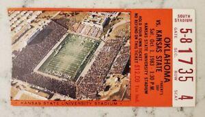 Kansas State Wildcats Oklahoma Sooners Football Ticket Stub 10/1 1983