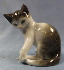 Katze figur porzellanfigur Pfeffer Gotha porzellan 1900 cat figurine