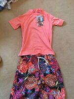 Bnwt Next Boys Sunsuit Swimwear 2 Piece UPF 50+ 4/5 yrs
