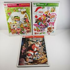 Vintage Whitman Lot of 3 Christmas Santa Frame Tray Puzzles