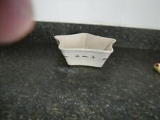 Longaberger Pottery Woven Traditions, Traditional Red Large Star Dish Pan Rare
