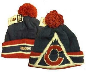 New Colorado Avalanche Mens Size OSFA CCM Cuffed Thick Knit Beanie Hat $24