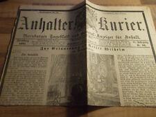 Anhalter Kurier #66 vom 17.03.1888 Erinnerung an Kaiser Wilhelm - Dreikaiserjahr