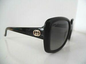 Ladies Gucci Black & Gold Square Sunglasses GG 3574/S W6ZWJ 56 16 135 Italy