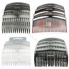 HAIR COMBS HAIR SLIDES 4 PACK OF BLACK TORT OR CLEAR 8CM HAIR COMB