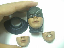 "Hot Toys 1966 Batman Adam West CLASSIC TV  1:6 Head & 2 Extra Faces for 12"" figu"