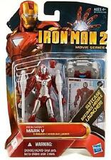 "IRON MAN ( 4"" ) HTF MARK V ARMOR ( 2010 ) MARVEL MOVIE SERIES ACTION FIGURE #11"