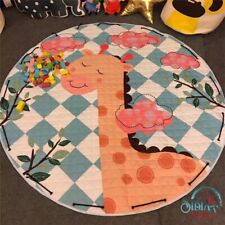 Portable Baby Kid Gym Play Mat Crawling Thick Cotton Blanket Smiling Giraffe Aus