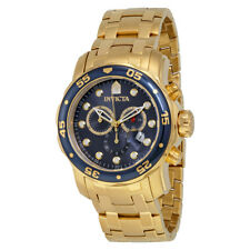 Invicta Pro Diver Chronograph Blue Dial 18kt Gold-plated Mens Watch 0073