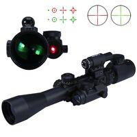 Hunting 3-9X40EG ZOOM Riflescope Green/Red Illuminated Optics Sniper Sight Scope