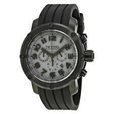 TW Steel Grandeur Tech 48 MM Black Dial Chronograph Mens Watch TW129