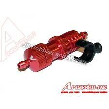 RC Nitro Auto/piano risposta-Rc Rosso Filtro Carburante COOLER regolatore di pressione + Mount