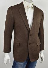 PAUL STUART Dark Brown 100% Cashmere Herringbone Tweed STUART III Sportcoat 42R