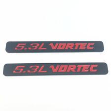 Fits 2pcs 5.3L VORTEC Badge Emblems 3D Decal 1500 2500hd Silverado Black Red