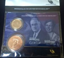 2014 FRANKLIN FDR ELEANOR ROOSEVELT Presidential $1 COIN FIRST SPOUSE MEDAL SET