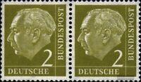 BRD (BR.Deutschland) 177x waagerechtes Paar postfrisch 1954 Heuss