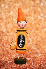 Lori Mitchell Folkart Fall Halloween Orange Crayon Boy New 2020