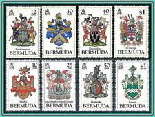 BERMUDA 1983-84 CRESTS / ARMS 2 SETS SC#433-36 MNH MILITARY, ANIMALS BOAR DRAGON