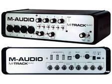 M AUDIO M TRACK QUAD 4 CHANNEL AUDIO MIDI USB INTERFACE 24-Bit/96Khz