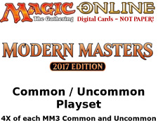 MTGO Magic Online MM3 Modern Masters 2017 Playset 724 Cards 4x Common/Uncommon