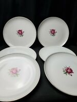 "6 Fine China Of Japan 10 1/2"" Dinner Plates In The Imperial Rose #6702 Pattern"