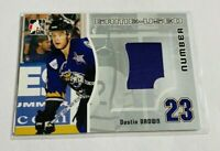 DUSTIN BROWN - 2005-06 ITG HEROES & PROSPECTS - GAME USED NUMBERS - JERSEY