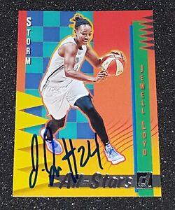 JEWELL LOYD SIGNED 2019 PANINI DONRUSS WNBA ALL-STARS CARD #8 SEATTLE STORM