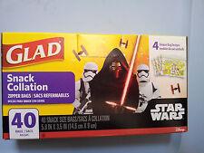 New listing Disney-Star-Wars-Snack- Zipper-Bags-40-Bags-Kylo-R en-Bb8-Chewbacca-Storm-Tro opers